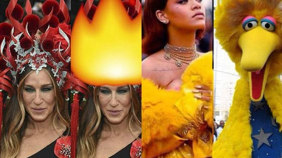 The internet has spoken! Here is what SJP and RiRi's outrageous gowns at the 2015 Met Gala reminded us of!