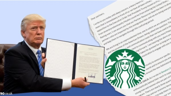 The incredibly popular Coffee Company has sworn to employ 10,000 refugees in response to Trump's Muslim ban; is it okay for Coffee to get political?