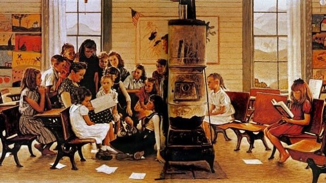 Norman Rockwell's birthday was February 3rd! We hid a red dot in some of his paintings! Can you find them?