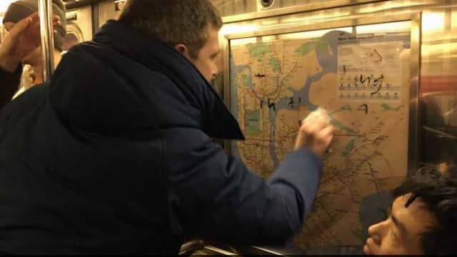 Anti Semitic messages had been scrawled on a subway car and a few good people got together and took them down. Is this the most effective way to fight hate?