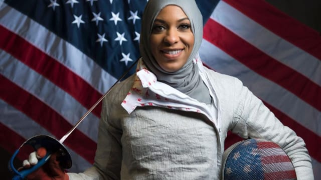 Ibtihaj Muhammad was the first American woman to compete at the Olympics in a hijab and the first American Muslim woman to win a medal at the Olympics, taking bronze in Team Sabre in Fencing. But none of that prevented her from being affected by Trump's travel ban. Find out more here.