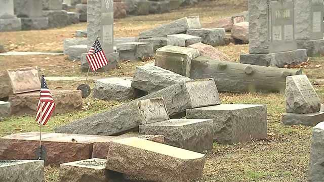 The historic cemetery was vandalized over the weekend in an event that is still being investigated by the local police. Muslims in the community decided to step in and help out