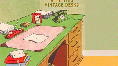 Only true workaholics will spot what's wrong with this desk - Are you a workaholic? Find out!