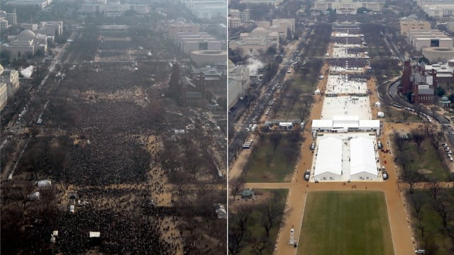 During and after Trump's inauguration the President claimed that thousands had turned out in the biggest crowd ever. The National Parks Service seems to disagree...