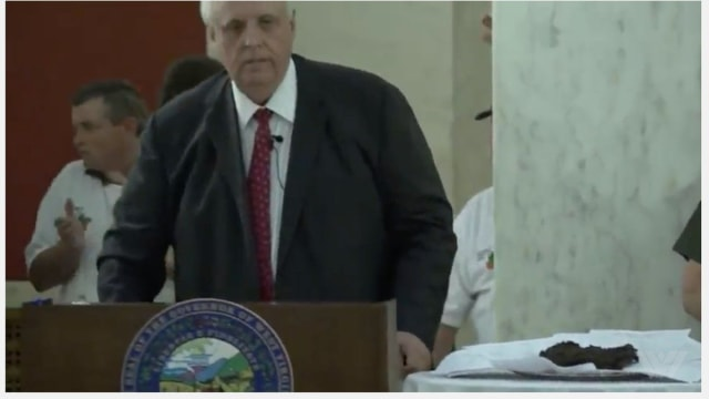 When the state's Republican-run legislature tried to pass a budget that made severe cuts to education and medicaid, West Virginia Governor Jim Justice created a very literal display of what he thought of the budget proposal before he vetoed it. Find out more here.