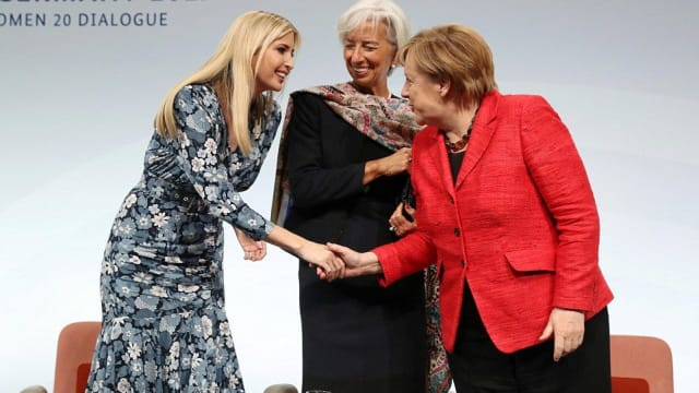 Who knew a handshake could be so important? After her father snubs German Chancellor Angela Merkel at The White House, Ivanka rubs palms with her without batting an eyelid. Is Ivanka better at being a statesmen than her father?
