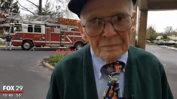 97-year-old Bill Grun always dreamed of riding in a firetruck and fighting back flames. Find out how he finally got his wish here!