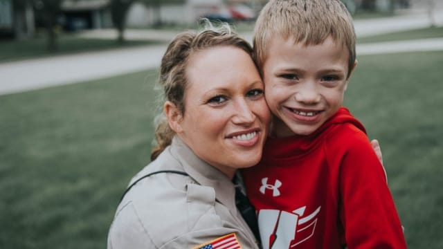 Officer Lindsey Bittorf may have just met the little guy, but she's stepping up and giving him a kidney! This is what a real life hero looks like!