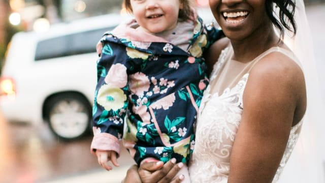 Wedding photographer Stephanie Cristalli captured a truly heartwarming moment when a toddler passing by the couple whose photos she was taking thought the bride was a princess! See these amazing shots here!