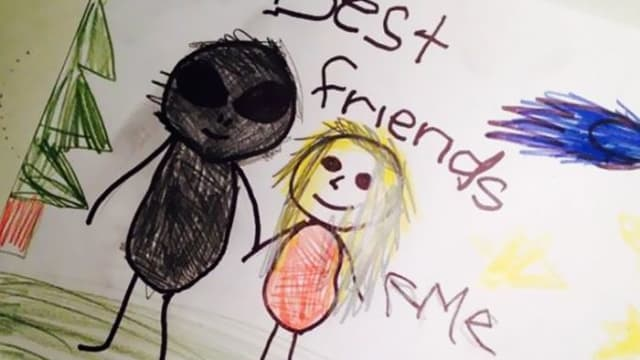 From horrifying imaginary friends to potential patricide, these kids' drawings have us more than a little on edge.