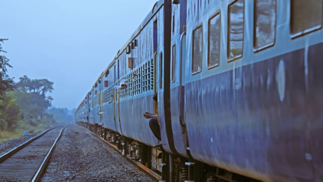 Woman in sari disappears on train in India after jumping to her 'death.'
