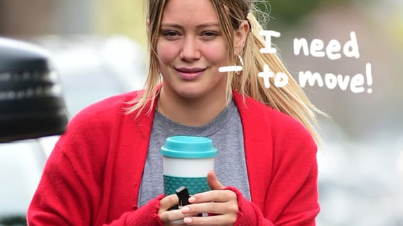 Hilary Duff is FED UP with neighbor Dieter Addison's cigarette smoke!