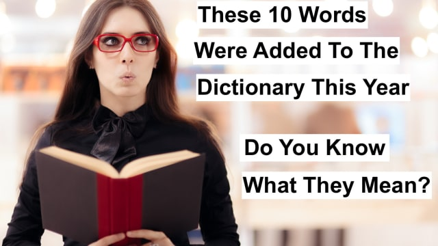 Merriam-Webster recently added 10 words to their dictionary. Do you know what they mean? Put your english skills to the test and take this extremely tricky dictionary quiz. You might be surprised on how little you know about your own language.