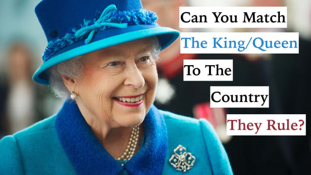 All we're giving you is a picture and you have to guess which country the king or queen rules. Good luck on this royal quiz!