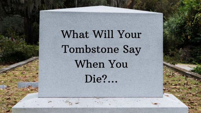 Have you ever wondered what your future tombstone will say? Take this quiz and we'll tell you!