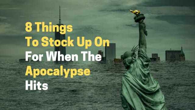 Let's face it...the end of the world might be coming sooner than we all expected it to. Stock up on these essential survival items just incase the apocalypse