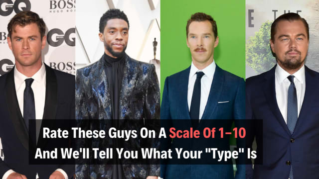Ever wonder who your romantic type is? Rate these guys and we'll tell you!