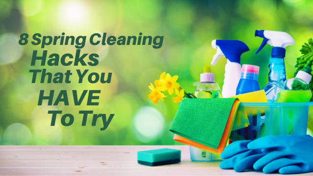 Spring is upon us! Get ready for your annual spring cleaning routine by brushing up on these genius spring cleaning hacks!