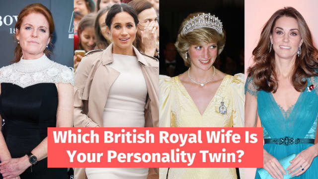 Ever wonder which royal wife you share a personalty with? There's glamorous and fun Meghan Markle, the noble Princess Diana, the delinquent Sarah Ferguson and the innocent Kate Middleton. Which one are you? Take this quiz to find out!