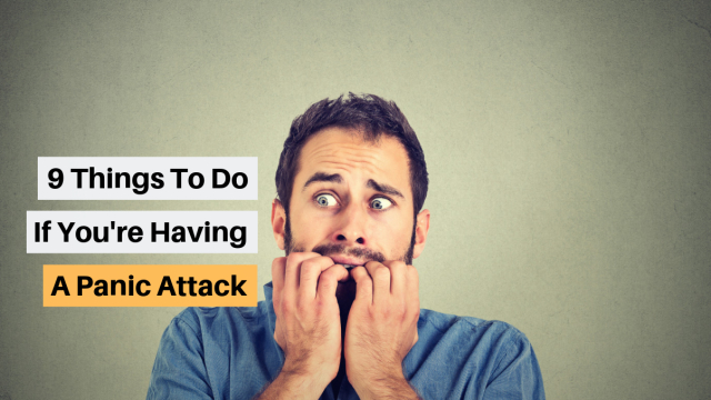 Panic and anxiety attacks are one of the most common physiological ailments experienced by Americans today. Panic attacks can come out of nowhere, so here's some tips to dealing with them in the moment.