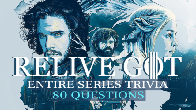 We may have seen the final episode... but it's not over until you've mastered the trivia for each season! Will you sit on the Iron Throne by the end? Find out by tackling this ULTIMATE GOT Trivia and relive the entire series - season by season!