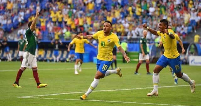 📷 Neymar comemora gol pela seleção brasileira | Reprodução