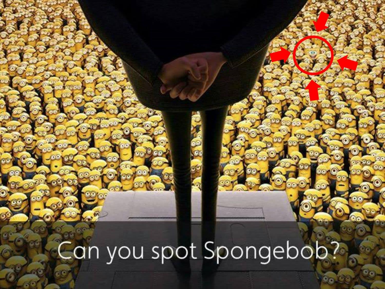 Resultado de imagen para can you spot spongebob