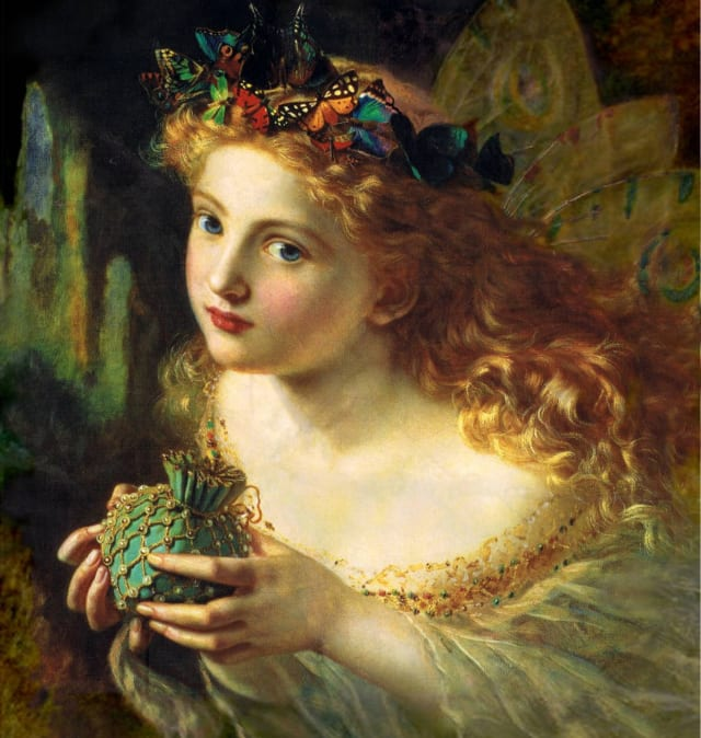 Take the Fair Face of Woman, and Gently Suspending, With Butterflies, Flowers, and Jewels Attending, Thus Your Fairy is Made of Most Beautiful Things - Sophie Anderson