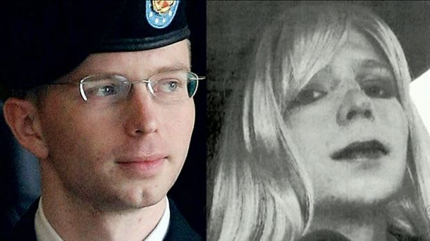 Chelsea Manning before and after her transition
