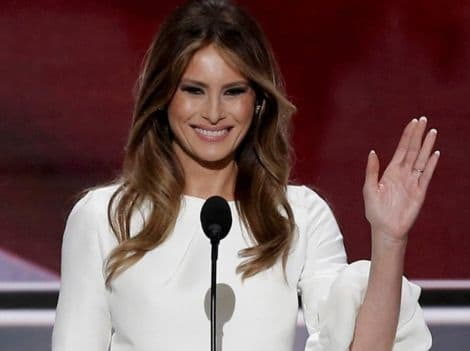 Melania addressing the RNC in her controversial speech