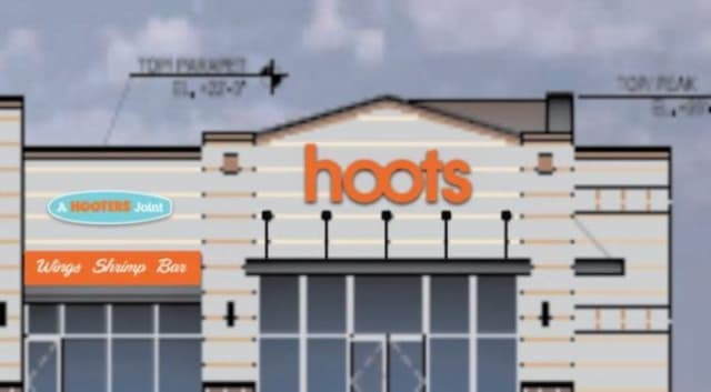A rendering of Hoots, set to open this year.