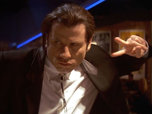 Pulp Fiction was the first time I remember seeing him play a bad guy. As Vincent Vega he dances, threatens people, and how could we forget... he shot Marvin in the face! Every part of the movie that includes Mr. Travolta is phenomenal! This paved the way for him to play future baddies in other films, which we will get to in just a moment...