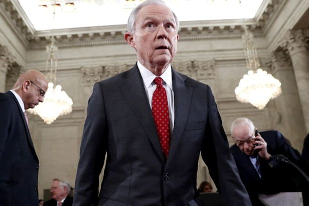 Sessions during his confirmation hearing