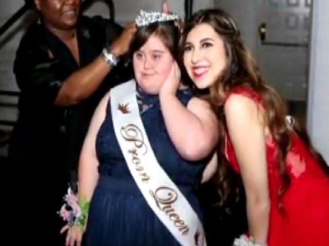 I was, like, 'Oh, my gosh!' So there is a picture of her and her sash and the tiara — I was, like, 'Wow, Abby's the prom queen!' That's amazing.