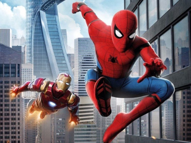 Spider-Man and Iron-Man swoop into action together in a post-Civil-War world
