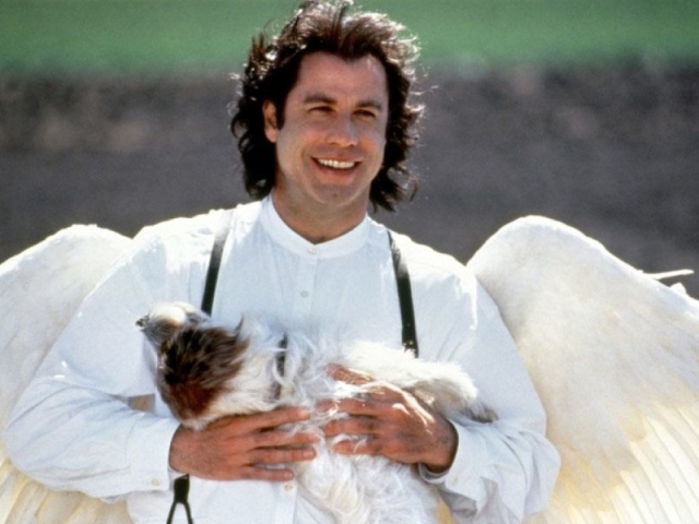 """Here the talented Mr. Travolta plays the archangel Michael, who has been sent back to Earth for his final """"vacation"""" here. He battles a bull, he dances in a bar, he helps an elderly lady by """"smiting"""" her local bank... This movie has it all! I couldn't imagine any other actor in this role. Travolta sells it in every moment of every scene, and it makes this movie a joy to watch."""