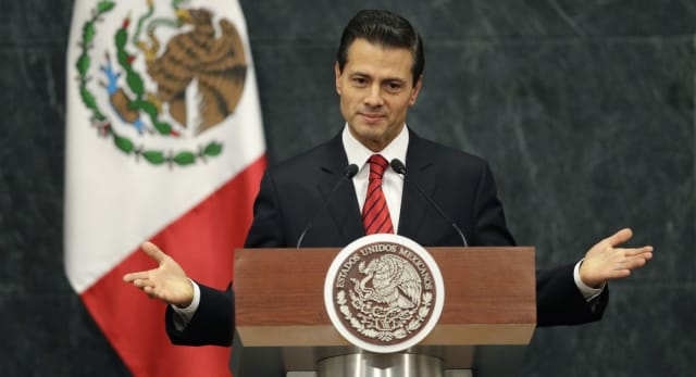 President Nieto addressed the press