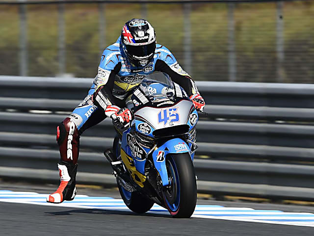 The youngest GP winner in history, British racer Scott Redding has been known to use the leg dangle.