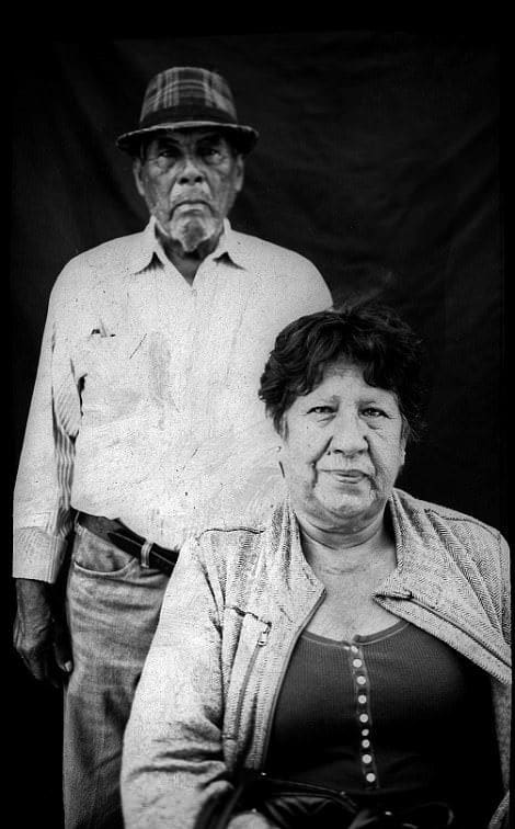 This husband and wife from the state of Sinaloa in Mexico cross the border occasionally to go shopping and visit relatives but say that it has gotten much harder to do so recently.