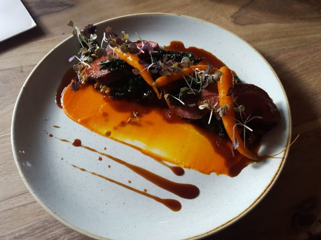The main was an easy choice for me, the Venison Haunch, Pearl Barley, Calvolo Nero and Carrots.