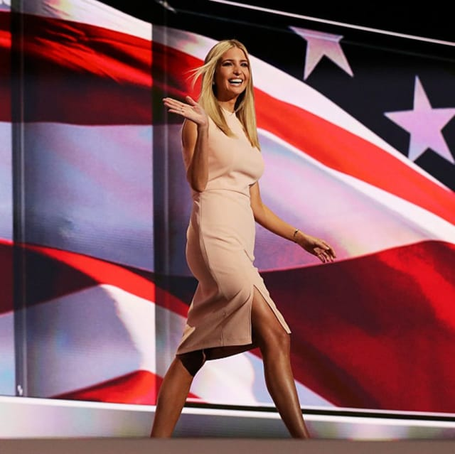 Ivanka takes the stage at the Republican Convention