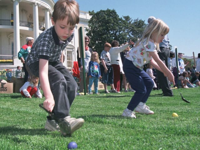 This year being our first, we've chosen to focus on the historic aspect of the Easter Egg Roll.