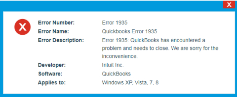 QuickBooks Error 1935 - How to Fix This issue?