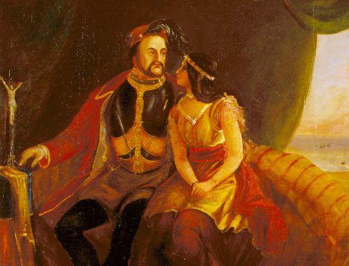 Pocahontas y John Rolfe