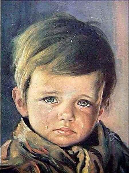 """""""El niño que llora"""".-"""