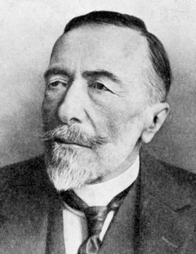 Retrato del escritor Joseph Conrad.