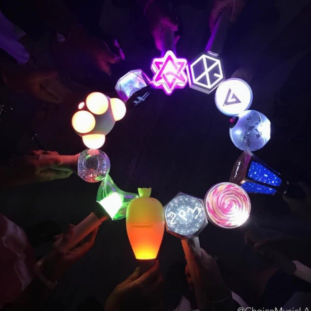 These light sticks are used at Kpop concerts to be held by the audience while they do their fan chants. It gets the fans involved and each Kpop group has their own light stick. However, they are quite pricey most fans believe they are worth the purchase.