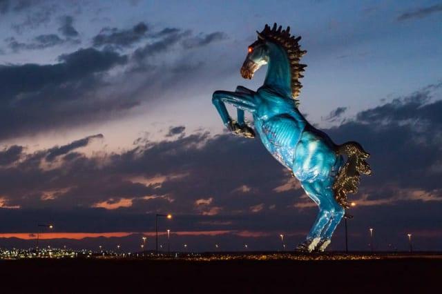 Blue Mustang, popularmente conocido como 'Blucifer' por: Luis Jiménez.-