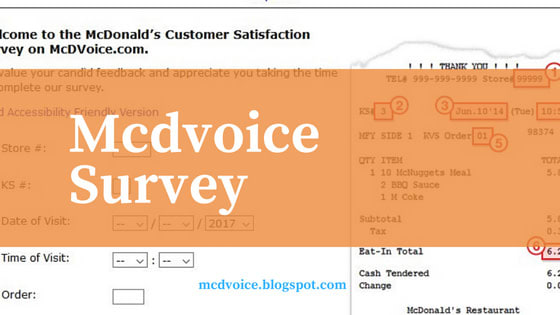 Do you desire a McDonald's coupon? Just by joining  McDvoice , you possibly can grab McDvoice validation code which can be redeemable with the zero cost reward. McDonald offers you suggestions system for their consumer in McDVoice internet site.Visit mcdvoice.blogspot.com for much more suggestions, go into your receipt infomation, reply just a few questions together with gain compensated with the free eats.