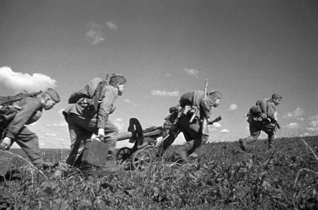 Las tropas sovéticas en la batalla de Kursk